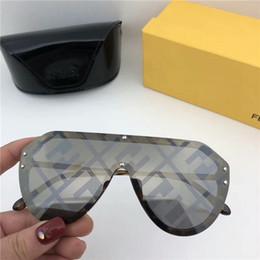 gafas de sol deportivas naranjas Rebajas Marca 2019 Gafas de sol de diseñador de alta calidad Letra F Gafas de sol Hombres Gafas Mujeres Gafas de sol Lente UV400 Unisex con estuches y estuche