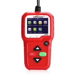 obd opel 16 pin Rebajas KONNWEI KW680 OBDII Escáner Lector de códigos Escáner de diagnóstico del automóvil Lector de códigos de falla del motor Detector Multi idioma