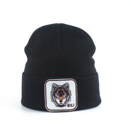 Beanie lobo on-line-New Lobo animal Beanie Homens Quente malha Chapéus de Inverno para mulheres Gorra Hip hop Skullies Unisex Cap Bonnet Dropshipping