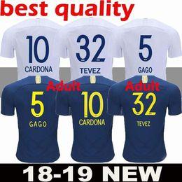 New men 2018 2019 Boca Juniors Home Blue Soccer Jersey Boca Juniors Away  White Soccer Shirt 2018 Football Uniforms Sales Free Shipping 761ad755c