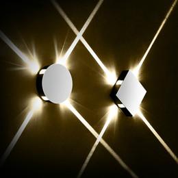 Progetti di lampade led online-Moderna creativa navata lampada da parete tondo quadrato camera da letto comodino progetto corridoio dell'hotel scalinata luce interna a LED