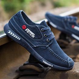 İlkbahar ve Sonbahar Moda Yeni Kore Kot Lace Up Kanvas Ayakkabılar nefes Rahat Kayma Eski Pekin Bez Ayakkabı giymek erkek Gelgit A07 supplier korean fashion lace nereden korece moda dantel tedarikçiler