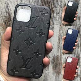 spiegel lite Rabatt Luxus-Lederabdeckung Designer Telefonkasten für iphone 11 Pro X XS Max Xr 7 8 Plus Fashion Marke weiche Abdeckung Funda