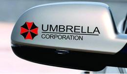 2020 calcomanías de golf Nuevo 2 x Corporación Umbrella reflectante Espejo retrovisor de coche pegatinas de la etiqueta para el golf 4 5 6 7 Polo Suzki Kia calcomanías de golf baratos