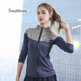5060841066 Women s Long Sleeve Sports Running Jacket Yoga Gym Fitness Tight Tops  Reflective Strip Night Running Sports Coat