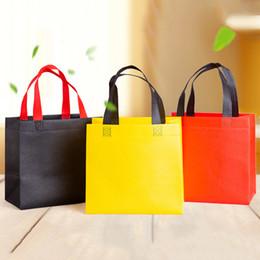 2019 sacchetti di tote del panno del regalo all'ingrosso Borsa per la spesa riutilizzabile delle donne casuali Tessuto unisex Tessuto non tessuto a spalla Borse in ecopelle Borse della spesa bolsa riutilizzabili