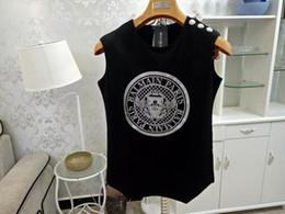 2019 mulheres soltas camisas estrelas T-shirt das mulheres Primavera e Verão Novo PB Estrela com algodão soltas Casual T-shirt sem mangas 7 cores mulheres soltas camisas estrelas barato