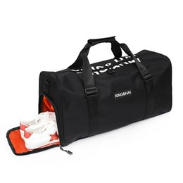 1b0275fa0524 Fitness bag female clothes men s shoes organizer waterproof nylon shoulder large  capacity travel hand luggage bag for boarding