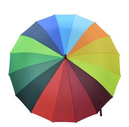 1d032c5dcdd09 sun rain rainbow umbrellas Coupons - Windproof Rainbow Large Umbrella  Ladies automatic Sun Long-handle