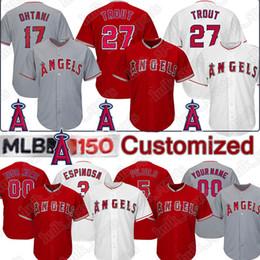 Argentina Los Angeles 27 Mike Trout Ange Camisetas de béisbol personalizadas 17 Shohei Ohtani 5 Albert Pujols 37 Cody Allen 25 Peter Bourjos jerseys supplier mike trout jerseys Suministro