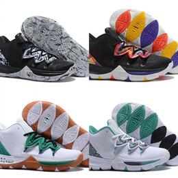 chinesische neujahrskästen Rabatt 2019 neue Mode Kyrie 5 Celtics PE Basketball Designer Schuhe Benutzerdefinierte Irving V Chinese New Year Sport Sneakers Gute Qualität Mit Box