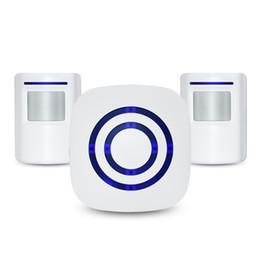 Receptor de alarme on-line-o mais barato alerta sem fio da entrada de automóveis, alarme da entrada de automóveis da segurança da casa, carrilhão do sino da porta do visitante com 1 receptor de encaixe e 1 sensor de movimento de PIR