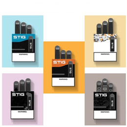 Batteria monouso e cig online-2019 Vgod Stig Pods monouso Vape Pen Kit 270mAH batteria completamente carica con una capacità baccelli vuoti Stig monouso E-Cig bar Kit soffio