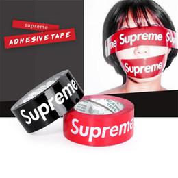 Картонная упаковка онлайн-Sup клейкие ленты тенденция упаковочной ленты тенденция в комплекте DIY красный черный персонализированный клейкая лента уплотнительная лента Упаковка ленты запечатывания коробки