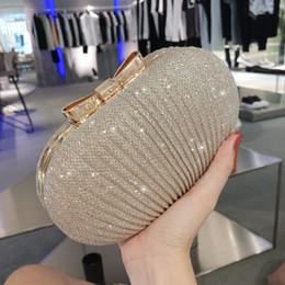 bolsos hechos a mano blanco negro Rebajas Caja de oro de la manera de las mujeres bolso de embrague de la señora de la bolsa de monedero bolsas cadena hombro bolso de noche arco de metal envío gratis # 88776