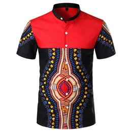 2019 новый мужской дизайн Tribal Chief Totem Print Рубашка мужская одежда Летняя корейская рубашка с короткими рукавами 2019 ...