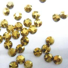passeggiare Colore ematite oro 2,3,4,5mm, 6mm Sfaccettature schiena piatta Gemme per unghie con strass in resina Decorazione passeggiata d'arte da
