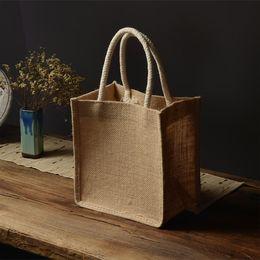 2019 riciclare la confezione regalo Borsa di tela in lino Borsa di riciclaggio ecologica personalizzata Confezione regalo speciale Stampa il logo riciclare la confezione regalo economici