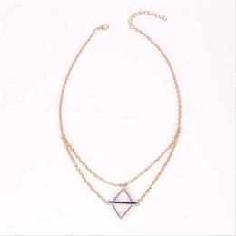 El collar geométrico del rombo hueco cuelga la cadena delicada Corto Boho Beach Simple regalo delicado de la joyería desde fabricantes
