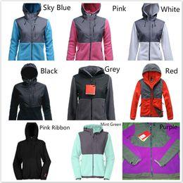 abbigliamento sci Sconti Moda The North Womens Denali Fleece Jackets casuale del vestito caldo antivento sci Viso Bambini Cappotti Giacche Rosa Uomo Bambini sci giù ricopre SoftShell