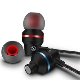 telefono basso Sconti 3.5mm X30 HIFI Cuffie auricolari in metallo con  microfono Auricolare stereo BASS 90186584fcf4