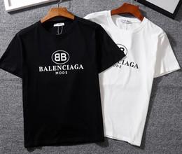 2019 pescoço tatuagem masculino 2019 Novo Tee bb carta de algodão clássico logotipo impressão de manga curta O-pescoço T-shirt dos homens e mulheres camiseta desgaste ocasional tee S-XXL