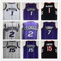 cd4cd74bc 2019 Men New High Quality 7  Kyle Lowry 2  Kawhi Leonard Jersey 15  Vince  Carter 1  Tracy McGrady 100% Stitched purple basketball jerseys