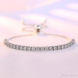 Canada Bracelet en laiton de tennis de style Pandora réglable avec sac à bijoux avec logo Offre
