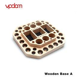 2019 vape skins sigelei Original Vpdam e suporte de cigarro Atomizador Vape Stand Base De Madeira e acessórios do cigarro para mostrar Kits Vaping e Vape Ferramenta