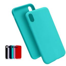 Canada Nouveau mat solide couleur de bonbons TPU cas pour iphone Xs max XR X 7 8 6S plus silicone souple en caoutchouc cas de téléphone portable couverture slim design opp package Offre