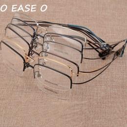 7a99b89104 New Arrival 6 colors fashion half rim glasses frame memory alloy eyeglasses  prescription ultralight frame 879 optical glasses