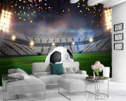 2021 wallpapers de futebol 3d Início Wallpaper Magnificent Emerald Football Field Impressão Digital HD decorativa bonito Wallpaper