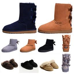 scarponi da lavoro in pelle a buon mercato Sconti 2020 pistoni del cotone Nuova WGG in Australia Classic Snow Boots Cheap Discount donne stivali invernali di moda Scarpe Stivaletti dimensione molti colori 5-10