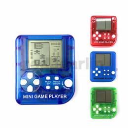 Wholesale Súper Mini Tetris juego de jugador Consolas de juegos portátiles Retro Mini Consola de juegos Juguetes para niños Cumpleaños Cumpleaños