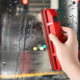 2019 tela magnética Limpiador de ventanas magnético para ventanas de vidrio de un solo vidrio Útil Herramienta de limpieza de vidrio con paño para uso doméstico tela magnética baratos