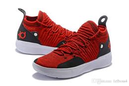 mejores zapatos kd Rebajas 2019 nueva venta All Star Negro Blanco BHM University Red City Series Calidad superior KD 11 hombres zapatillas de baloncesto Zapatillas de deporte La mejor calidad lzfboss4
