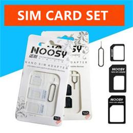 2019 telefones clonados por atacado 4 em 1 noosy nano adaptador micro cartão simjetar pin para huawei xiaomi iphone samsung sim card pin caixa de varejo