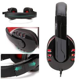 SY733 Stüdyo Oyun Kulaklıklar Kafa Kulaklık Iptal Stereo Gürültü Mikrofon Ile Bilgisayar PC Gamer Için Işık Ile Kulaklık paketi nereden