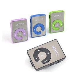 Media player para carros on-line-Nova Chegada Clip Mini USB MP3 Music Media Player Micro SD Cartão TF de até 16 GB Bluetooth MP3 MP4 para carro