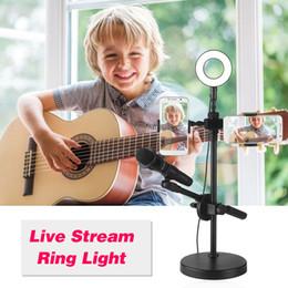 Del supporto USB Podcast Microfono con selfie luci Anello Plug Play 4 in 1 Lampada Fotografia Broadcast con il telefono la clip per il video in diretta Tiktok da lampada da incasso a led fornitori