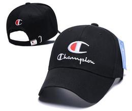 Deportes campeones online-2019 de alta calidad campeón bordado Ajustable Snapback Gorra de béisbol Diamante Sombrero de protección solar Hip hop hueso deporte sombreros gorras casquette