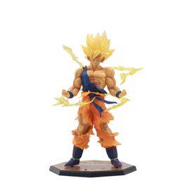 Muñecas dragon ball online-Juguete alta calidad de PVC Dragon Ball Son Goku Kakarotto figuras de acción de la muñeca para los mejores regalos para niños 17CM