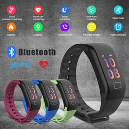 pk fitbit Promo Codes - F1 plus Color Screen Smart Bracelet Blood Pressure Heart Rate Monitor SmartBand Fitness Tracker PK fitbit Smart Wristbands huawei xiaomi
