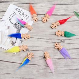 le ragazze di amore del silicone Sconti Bambola Troll Famiglia Capelli colorati Membri Papà Mummia Baby Boy Girl Leprocauns Dam Trolls Toy Gifts Happy Love Family