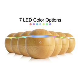 Canada Aroma Essential Oil Diffuser Ultrasonic Humidificateur de brume fraîche Purificateur d'air 7 Changement de couleur LED Veilleuse pour la maison cheap color change humidifier Offre