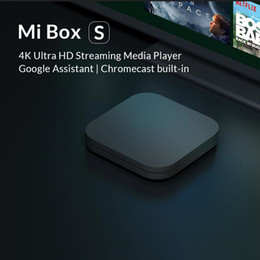 Cajas de tv xiaomi online-libera la nave 2020 Xiaomi Mi caja de la TV S 4 Android 8.1 4K HD QuadCore inteligente Bluetooth 2 GB 8 GB HDMI inalámbricas establecidas Rectángulos Media Player
