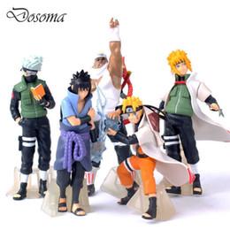 Os presentes os mais frescos do bebê on-line-Nova Chegada 5 Pcs / set Naruto Action Figure brinquedos clássicos refrigeram Naruto Kakashi Sasuke Uzumaki figura modelo Anime para o bebê caçoa o presente