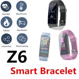 Z6 Smart Armband Herzfrequenz Armband Blutdruck Bluetooth Wasserdichte Stoppuhr Farbdisplay Sportmodus Nachricht Push-Uhr 50 Packungen von Fabrikanten