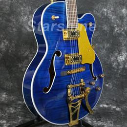 2019 hohlkörpergitarre l5 Starshine Hohlkörper E-Gitarre YL-JZ60 Gold Hardware Ahorn Top Grover Tuner L5 Stil Gute Pickups rabatt hohlkörpergitarre l5
