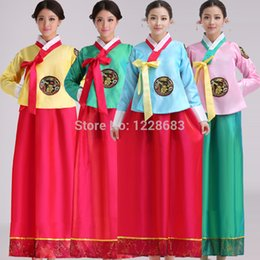 2021 frauen hanbok Neue Qualitäts-Frauen Kinder 4 Styles Stickerei koreanisches traditionelles Kleid Nationale Cosplay koreanisches Hanbok